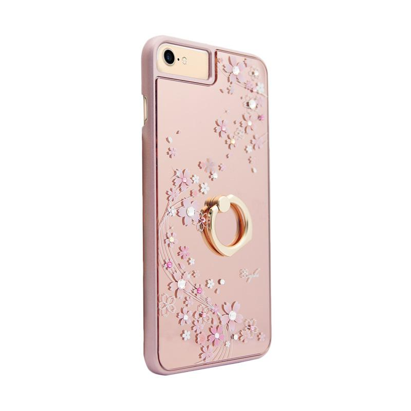 apbs® x Swarovski Cherry Blossoms Ring Casing for iPhone 6 or 7 - Pink