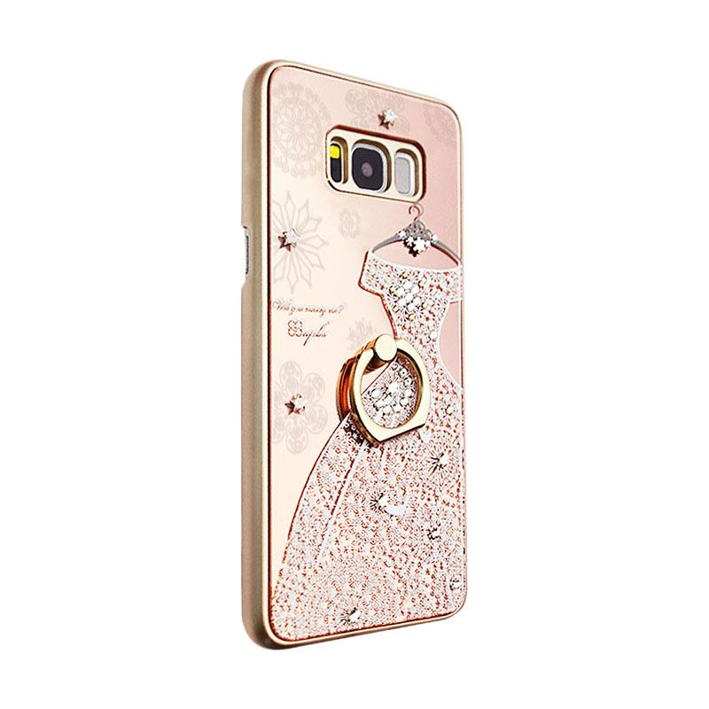 apbs® x Swarovski A Wedding Dress Ring Casing for Samsung Galaxy S8 - Pink