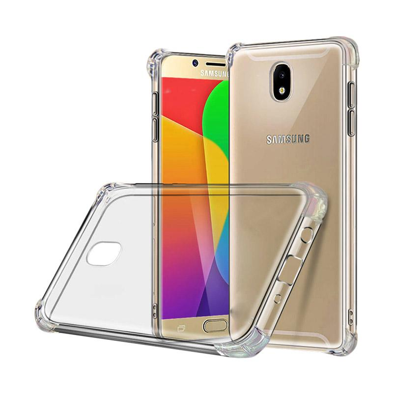 QCF BUY 1 GET 1 List Anti Shock and Anti Crack Silicon Softcase Casing for Samsung Galaxy J3 Pro 2017 J330 (Tidak Kompatibel Untuk J3 Pro J3110) - Transparan