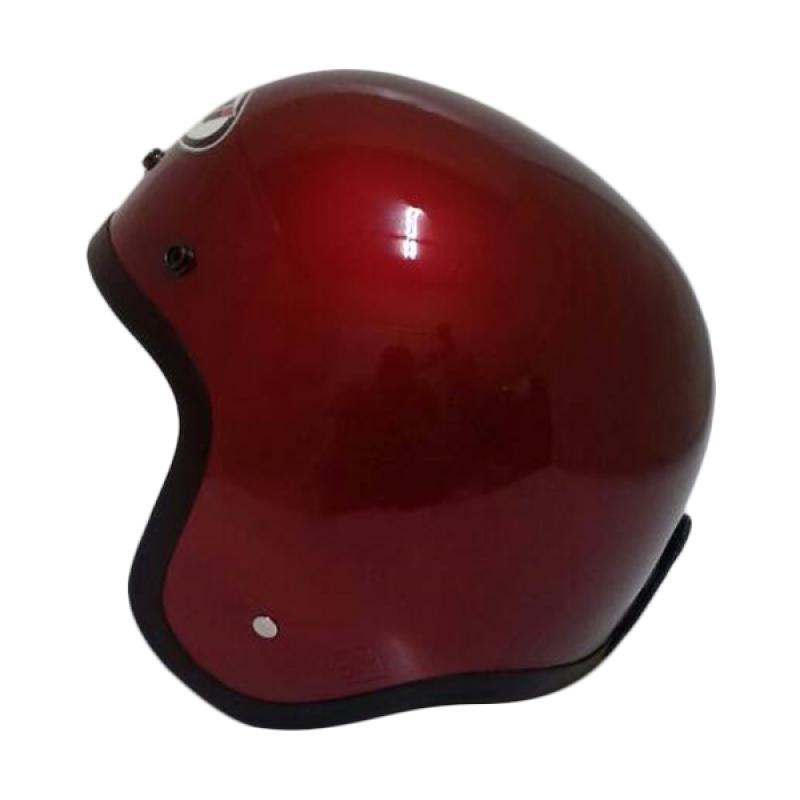 THI Helmets Classic Polos Helm Half Face - Merah
