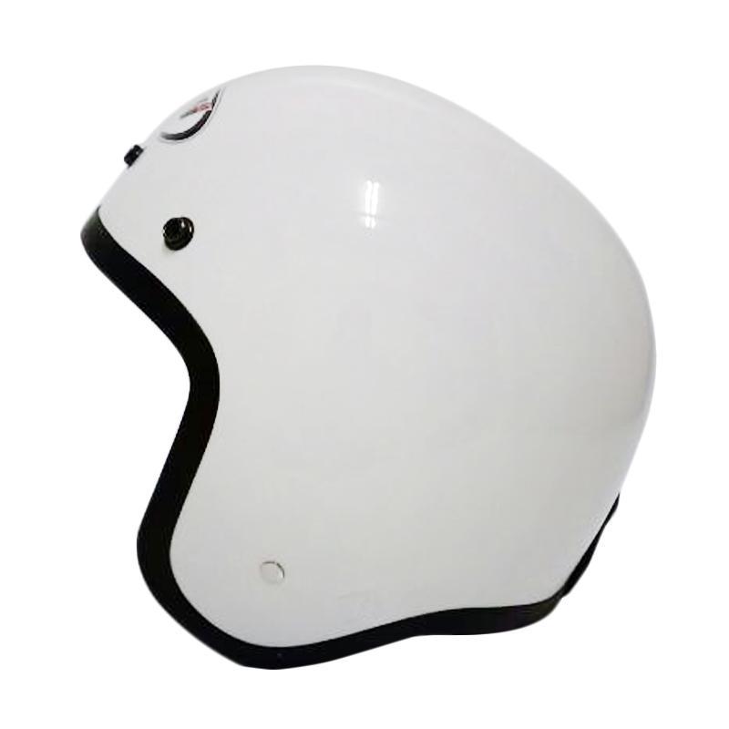 THI Helmets Classic Polos Helm Half Face - Putih