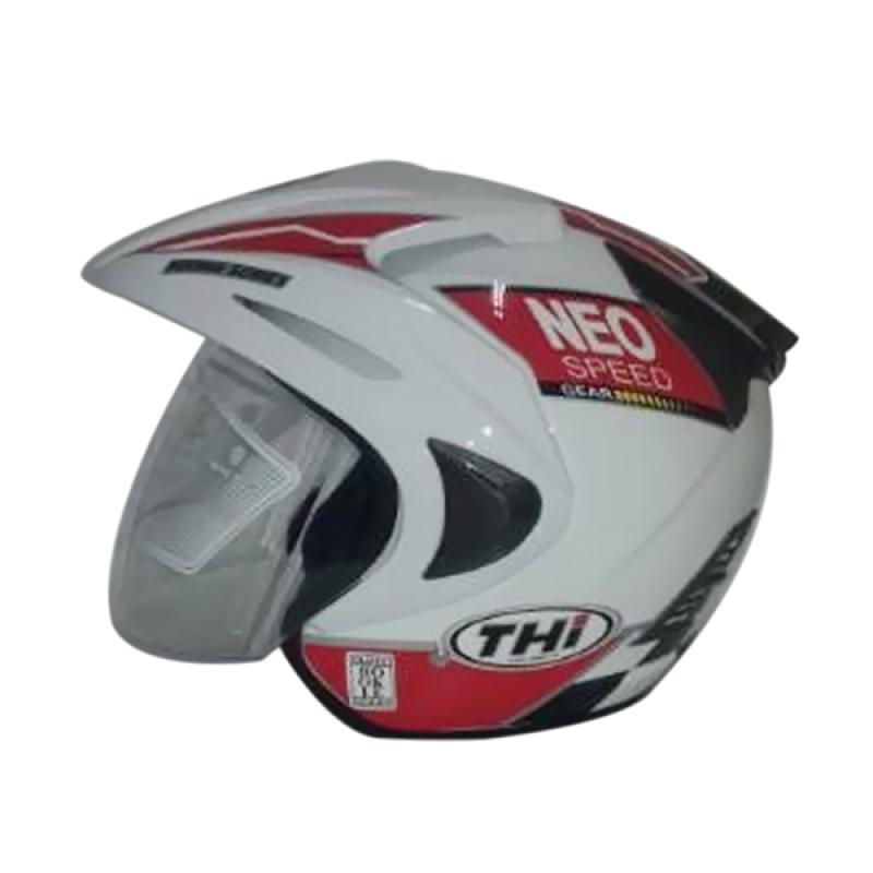 THI Helmets Rookie Grafis Neo Helm Half Face - Merah Putih