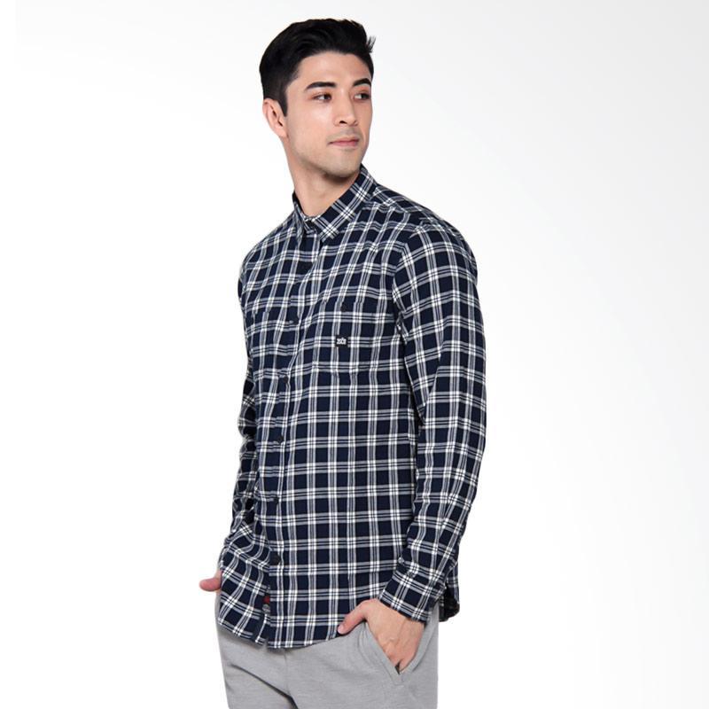 3SECOND Casual Shirt Kemeja Pria - Blue [1011 110111711BR]