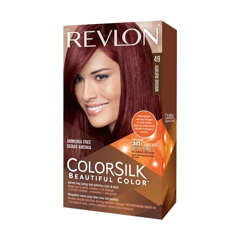 Revlon Colorsilk Hair Color Pewarna Rambut - Auburn Brown 49