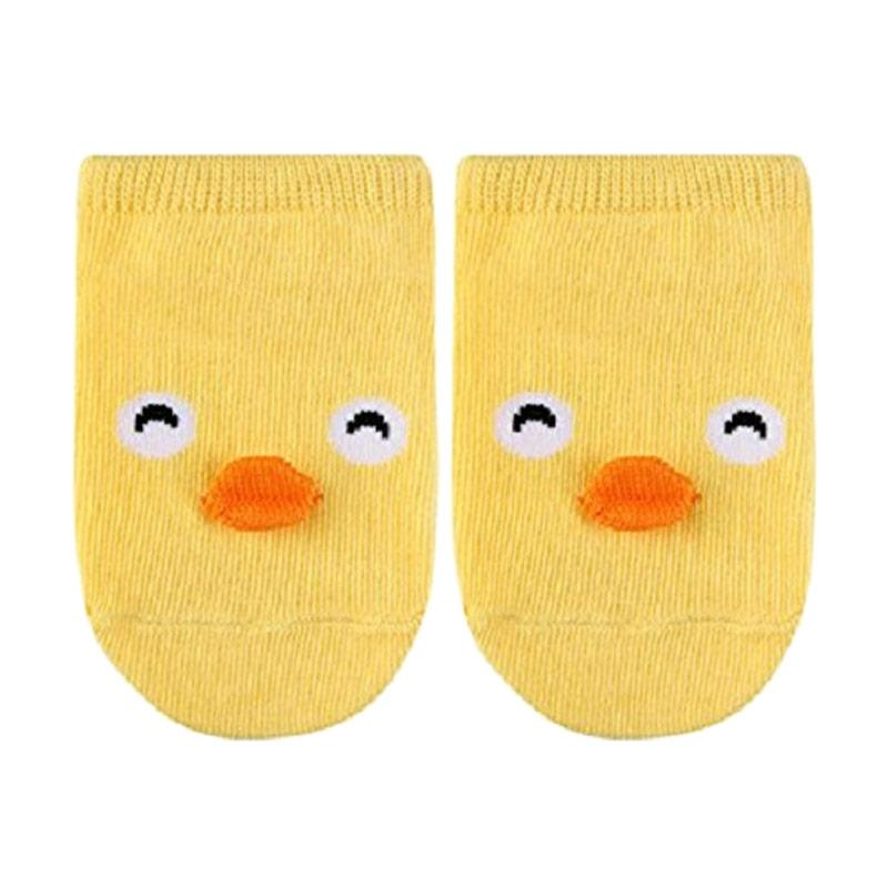 Chloebaby Shop 3D Gambar Animal Duck Kaos Kaki Anti Slip Bayi