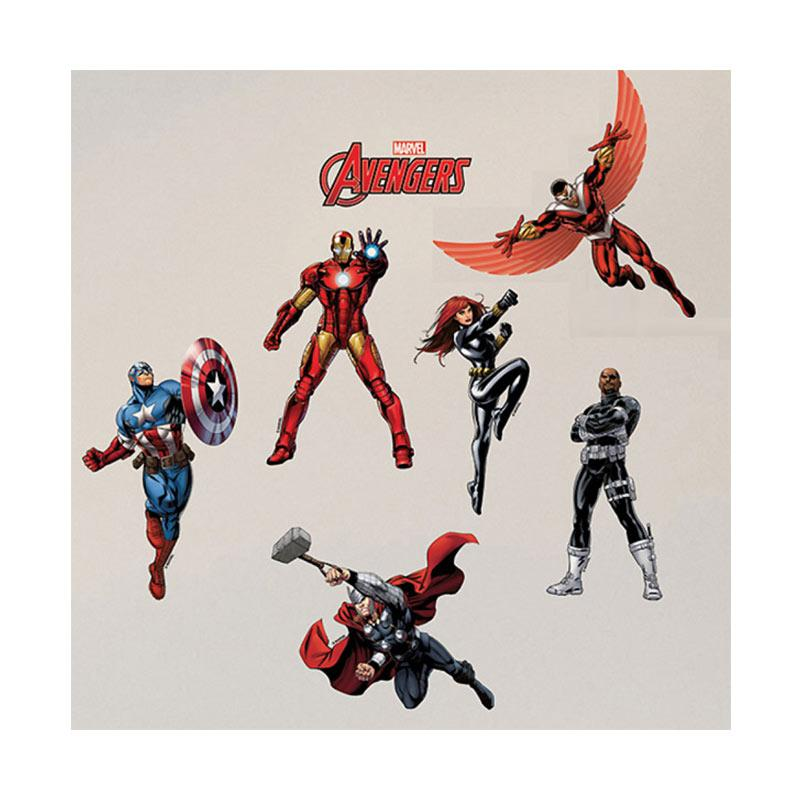 Hyundae Fixpix DS 56188 The Avengers Assemble Wallsticker Dinding