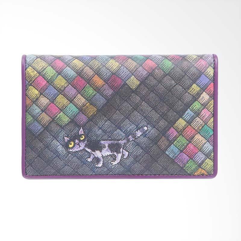 IPC Mansion Selected Colourful Grid Cat Medium Purse Dompet Wanita - Purple