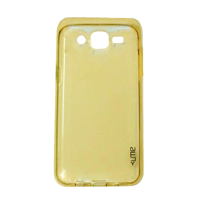 Ume Ultrathin Silicone Jellycase Softcase Casing for Samsung Galaxy J7 Core - Kuning