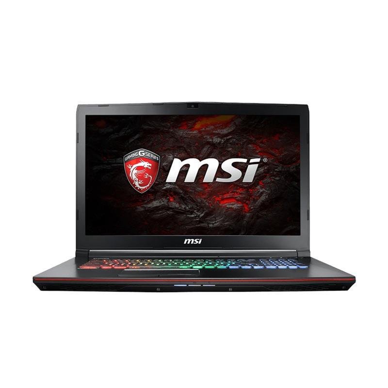 MSi GE72MVR 7RG Apache Pro Notebook - Hitam [i7 7700HQ/16GB/256GB SSD + 1TB HDD/GTX1070 8GB/17.3 Inch FHD/Win 10]