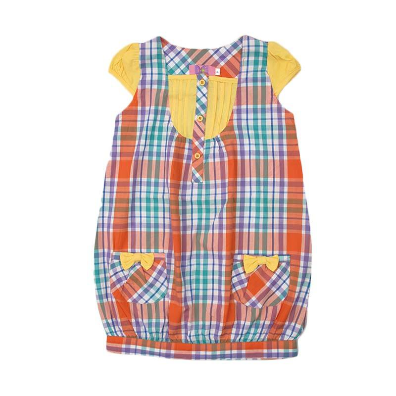 4 You Pattern Dress Anak Perempuan - Kuning