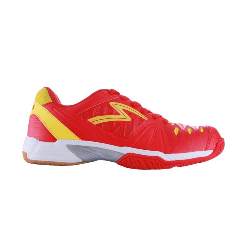 Specs Thor Sepatu Badminton Pria - Red White Yellow [300197]