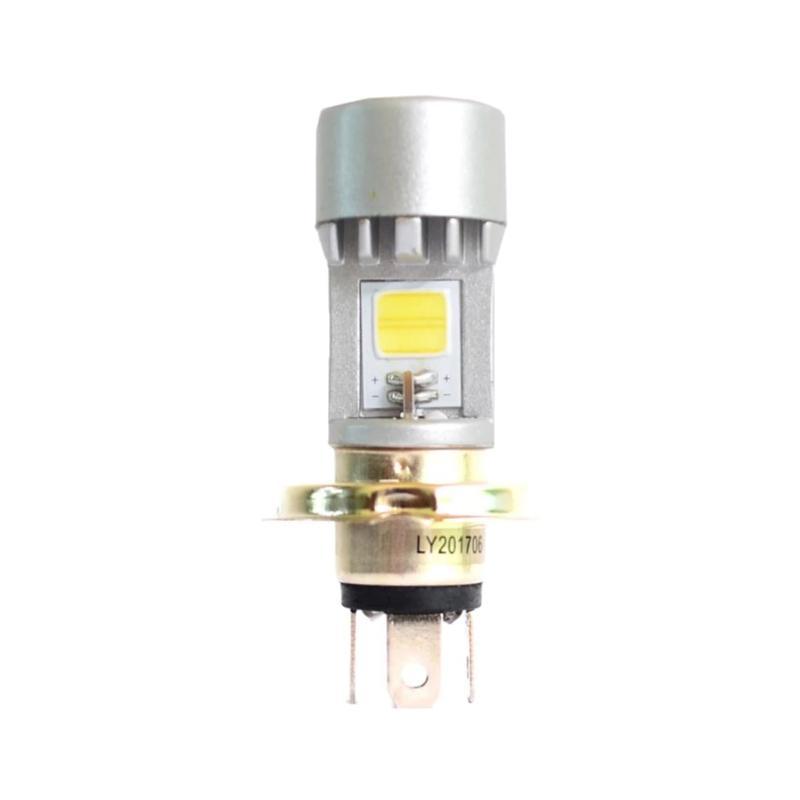 Raja Motor H4 AC DC 2 Sisi Tyto 12W 35V Lampu Depan LED - Silver Putih [DOH9064-Putih]