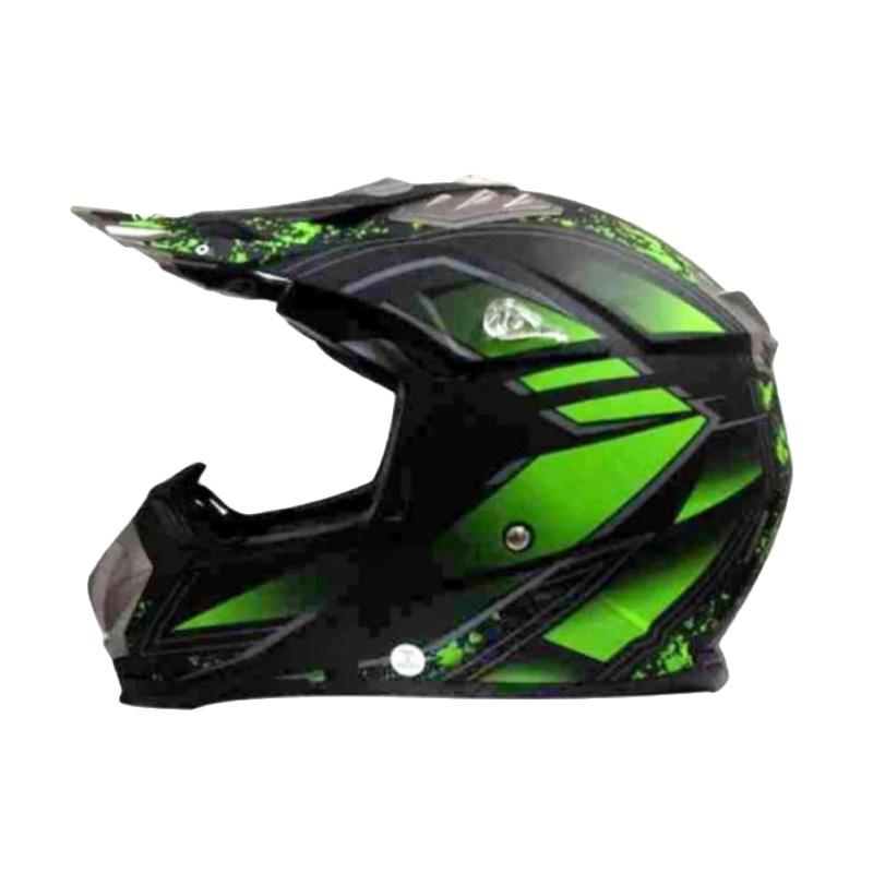 Snail Helmet MX315 Helm Motocross - Hijau Hitam Dope