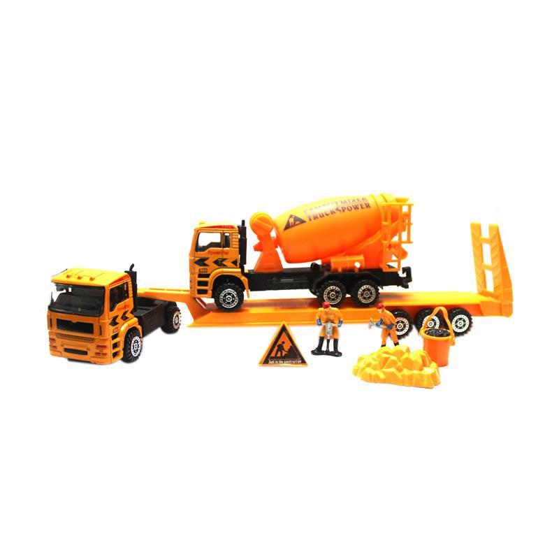 Power Super Metal Construction Cement Truck Mainan Mobil Truk