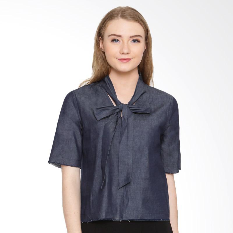 A&D Fashion Ms 964 Denim Blouse Atasan Wanita - Blue