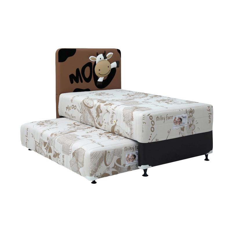 American Pillo American Kids 2 in 1 with Brown Moo HB Set Springbed - Brown
