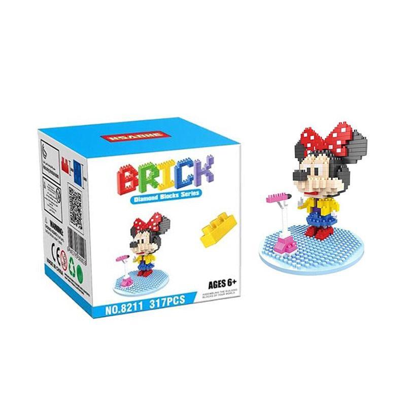 HSANHE 8211 Minnie Mainan Blok & Puzzle