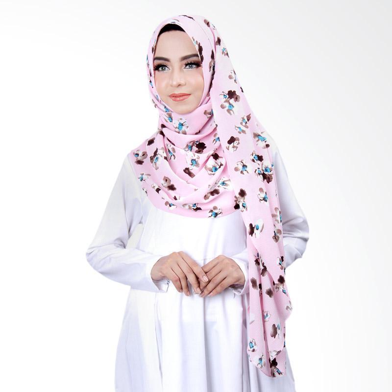 Cantik Kerudung Khloe Printed Jilbab Instant - No.4 Pink