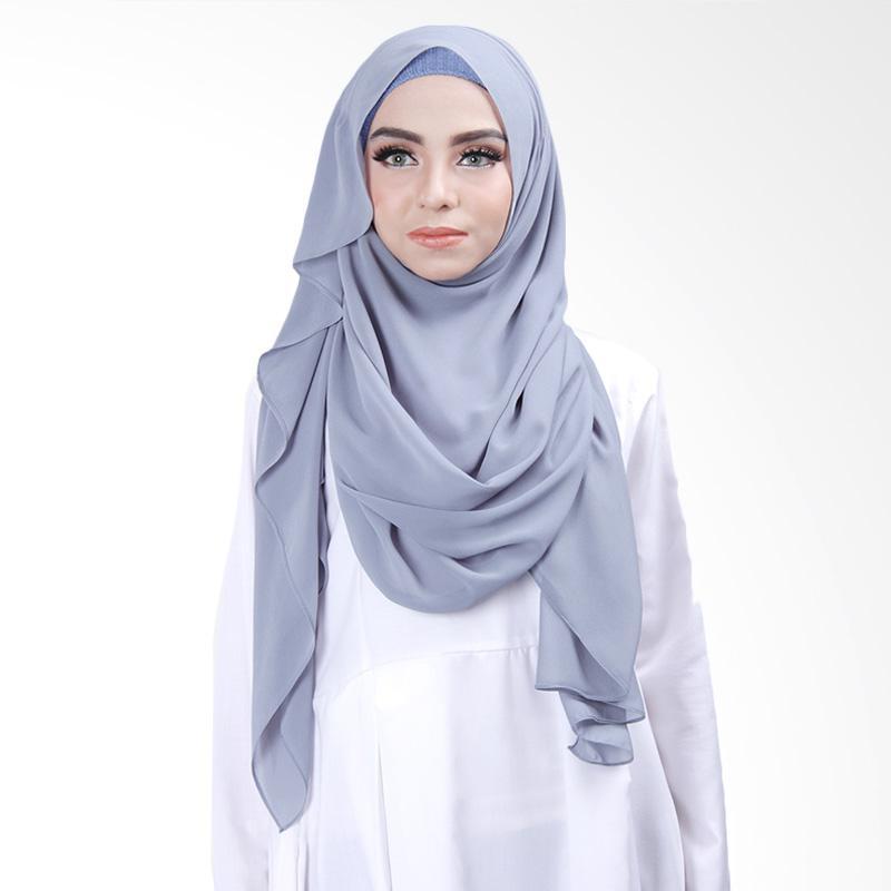 Cantik Kerudung Khloe Slip in Jilbab Instant - Bluish Grey No.3