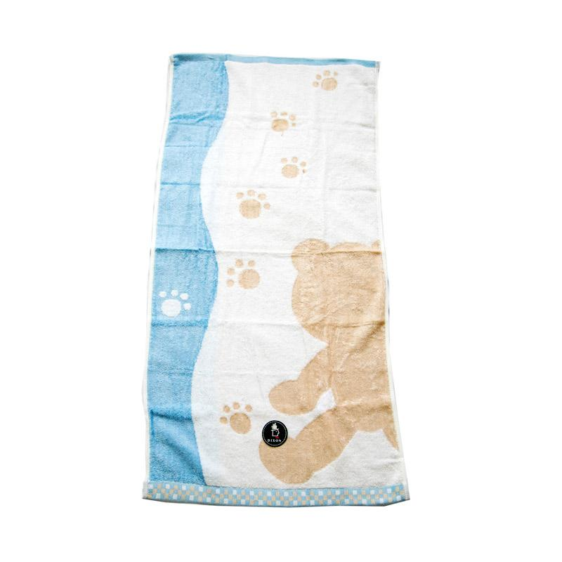 Dixon Bear Shadow 7080 Handuk Mandi - Blue [60 x 120 cm]
