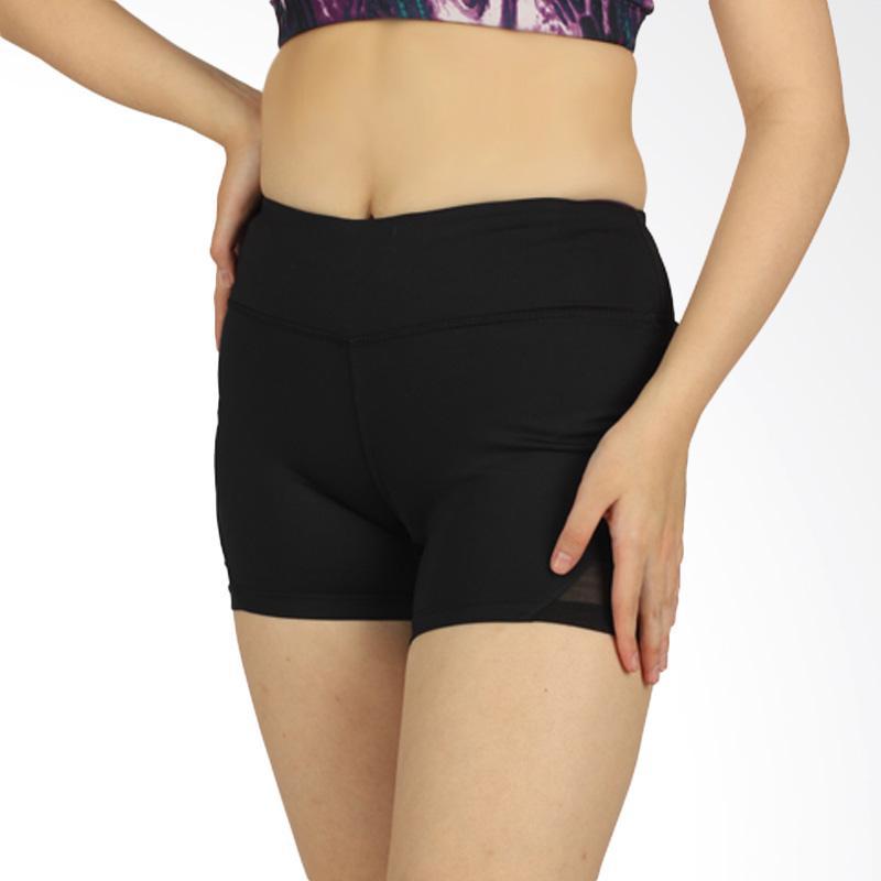 Forever 21 Mesh Athletic Short Pant Celana Pendek Olahraga Wanita - Black [F0005]