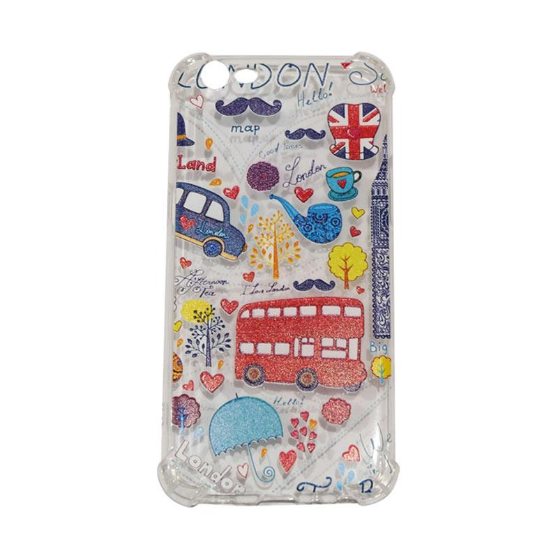 QCF Bus London Anti Crack Anti Shock Silikon Softcase Casing for Oppo A57