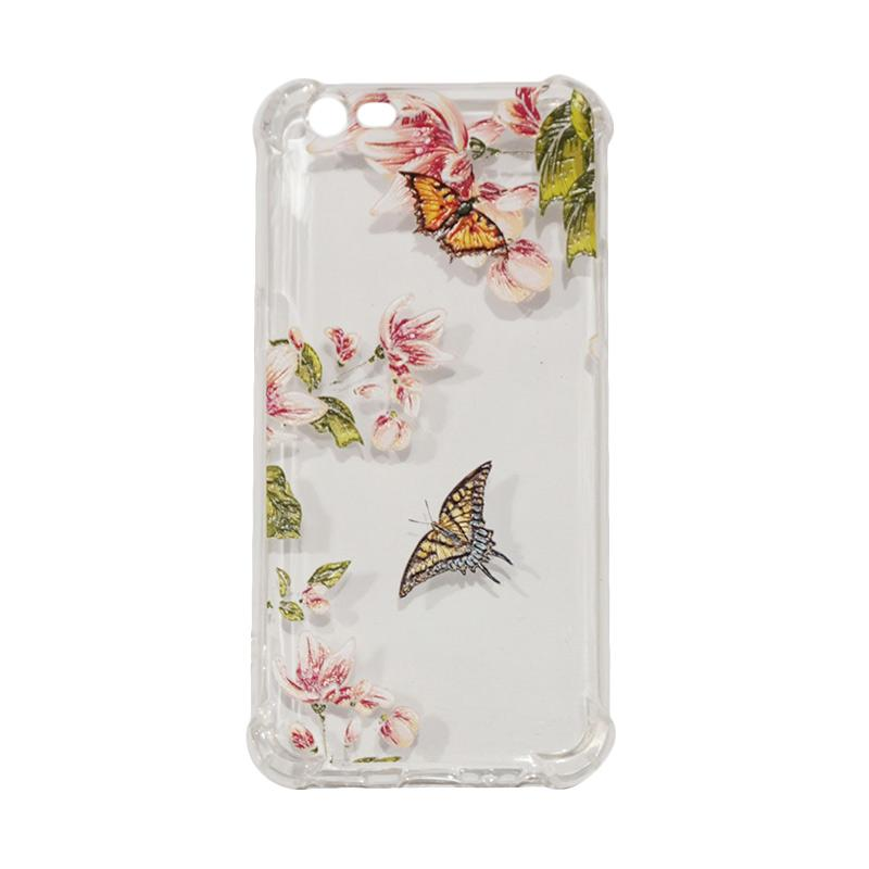 QCF Butterfly Anti Crack Anti Shock Silikon Softcase Casing for OPPO A57