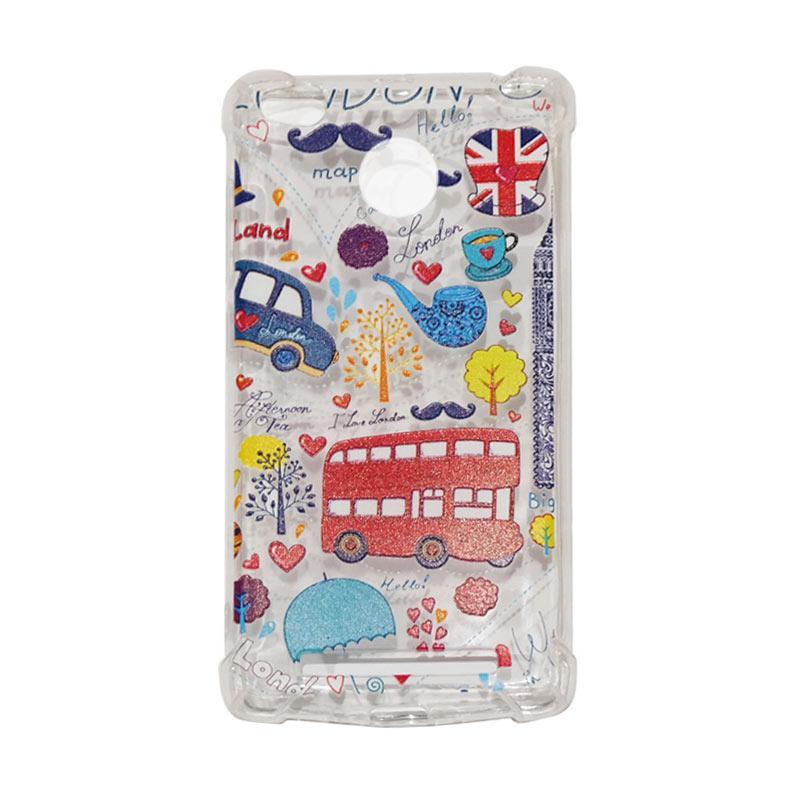 QCF Softcase Anti Crack Anti Shock Silicone Case Gambar Bus London + FREE Bumper Karet Animasi Random for Xiaomi Redmi 3X