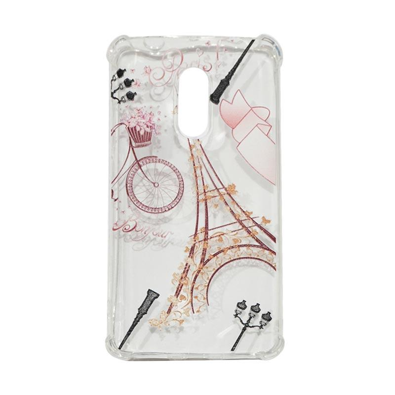 QCF Softcase Anti Crack Anti Shock Xiaomi Silicone Casing Gambar Paris + FREE Bumper Karet Animasi Random for Xiaomi Redmi Note 4X