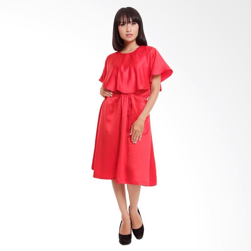 harga Shadrins Nursingstyle Lily Satin Dress Menyusui - Red Blibli.com