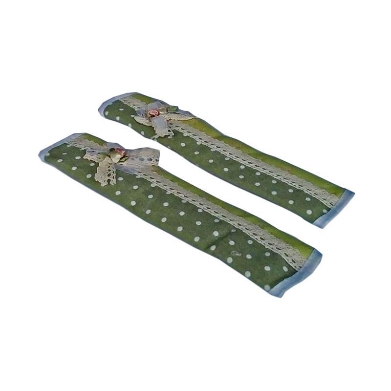 Tren-D-Home Dot Fridge Handle Cover Kulkas - Hijau [28 x 15.4 cm]