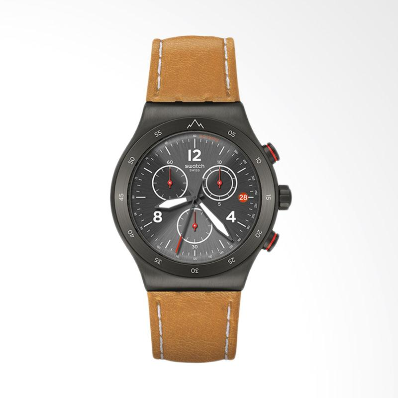 Swatch Men's Jeremy Jones The Journey Is The Reward Jam Tangan Pria - Black [YVZ400]