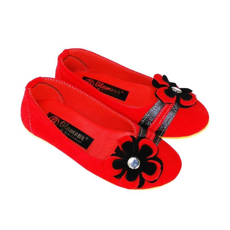 HQo Sepatu Flat Anak Perempuan Slip On Rosali02 - Merah