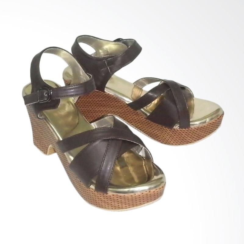 Anneliese DDN 01 Sandal Wedges Wanita - Brown