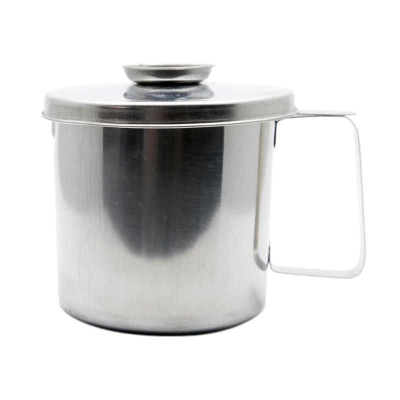 HAN I020 Stainless Pot Tempat Minyak dengan Saringan - Perak