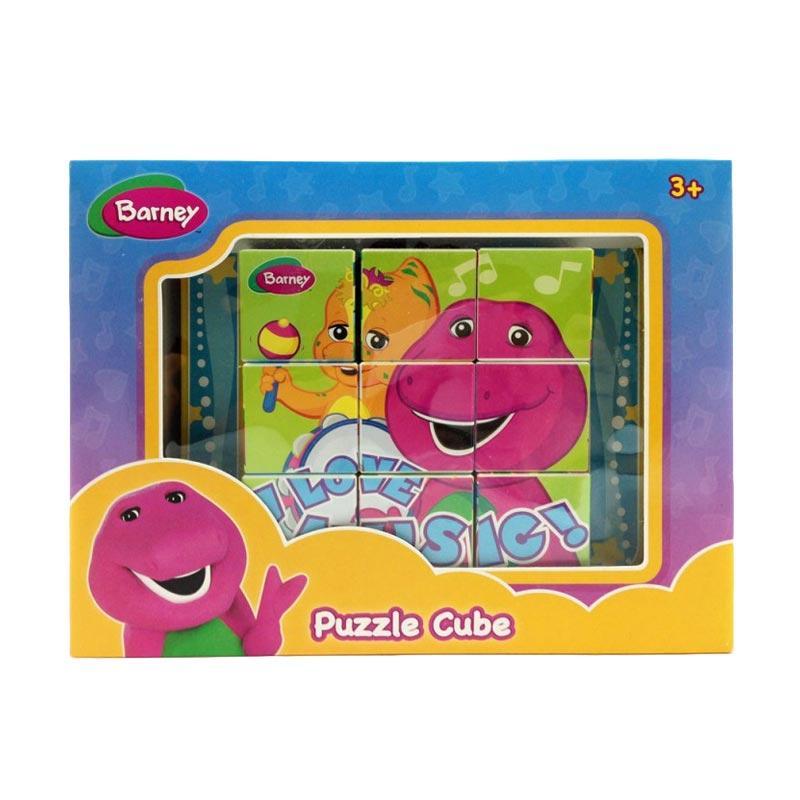 Happy Toon Barney & Riff Puzzle Cube Mainan Anak