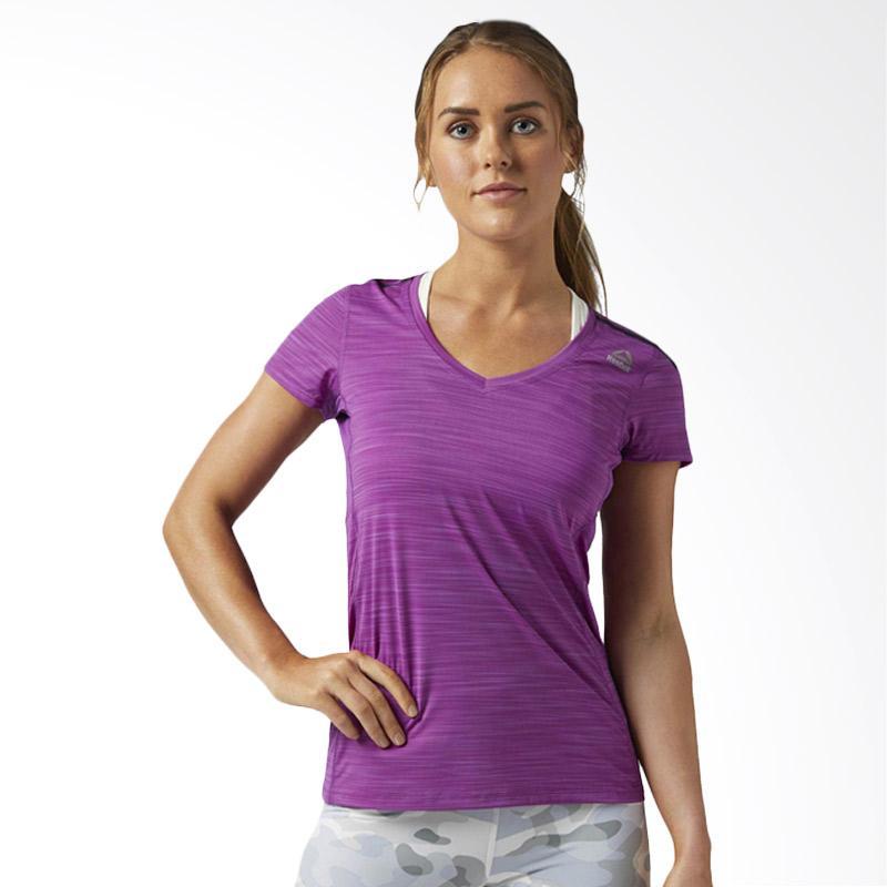 Reebok One Series AC Tee Auberg Kaos Olahraga Wanita [BQ4949]