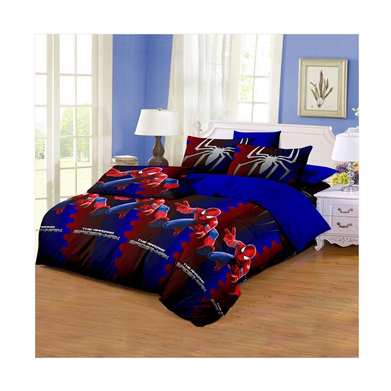 harga Monalisa Motif Amazing Spiderman Disperse Set Sprei - Dark Blue Blibli.com