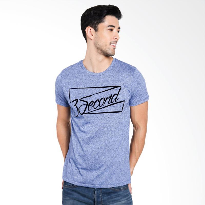 3SECOND Men 3212 T-Shirt Pria - Blue