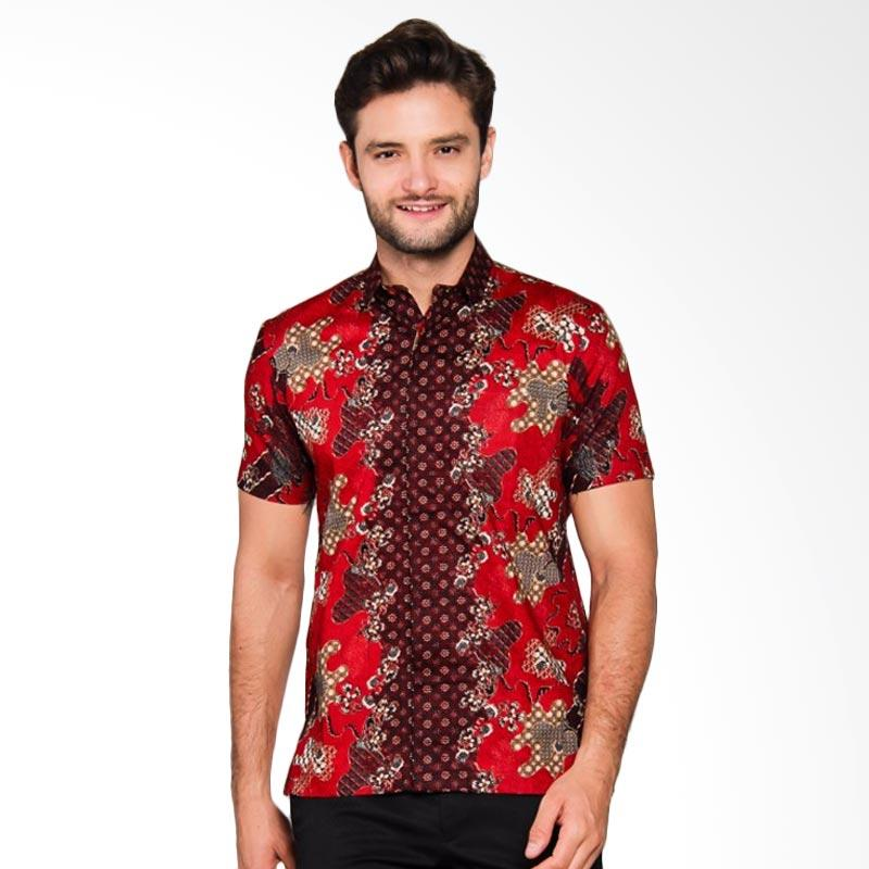 Adiwangsa Model Modern Slim Fit Baju Kemeja Batik Pria [019]
