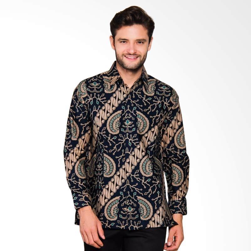 Adiwangsa Model Modern Slim Fit Baju Kemeja Batik Pria [024]