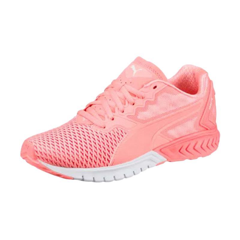 PUMA Ignite Dual Mesh Running Shoes Sepatu Olahraga Wanita - Peach [190001-01]