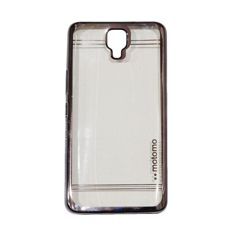 Motomo Luxury Shining Chrome Silicone Softcase Casing for Infinix Note 4 X572 - Black