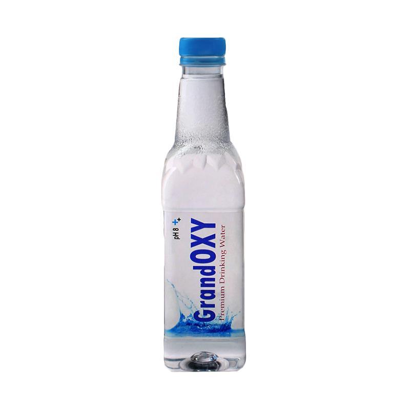 GrandOxy Alkaline Water pH 8+ Minuman Kesehatan [500 mL/25 pcs]