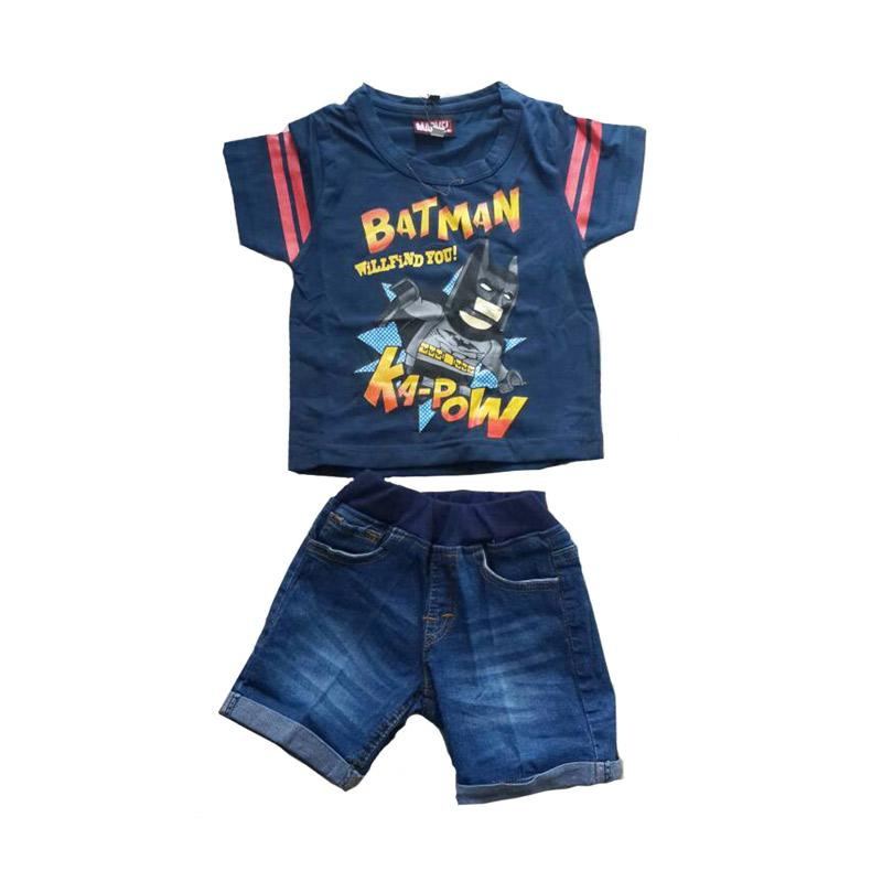 harga Marvel Kaos Batman dan Celana Jeans Anak Laki-laki Blibli.com