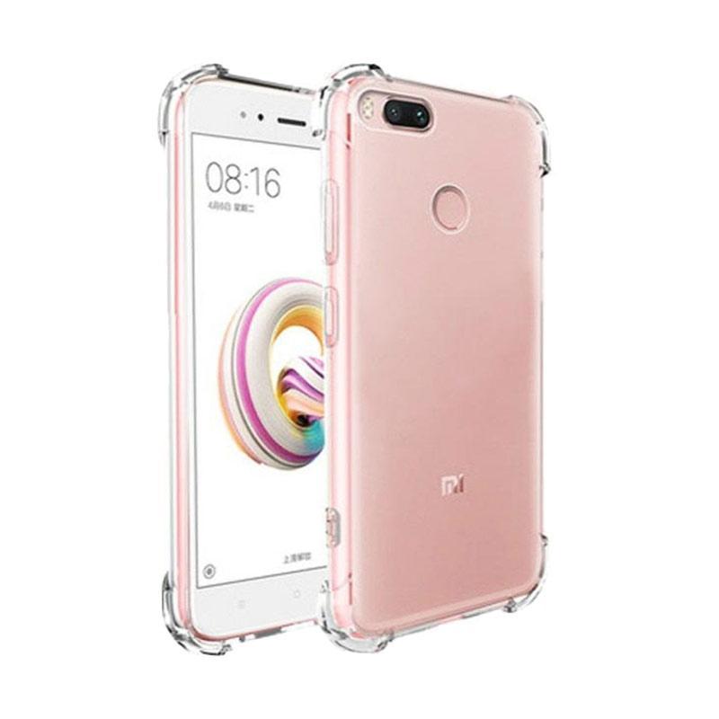 QCF Softcase Anti Shock Anti Crack Silikon Casing for Xiaomi Mi A1 - Transparan