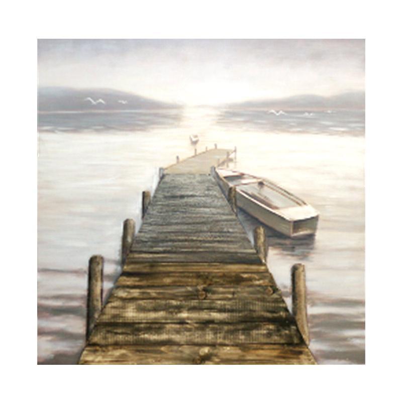 Thema Home 6535 3D Painting Pier LED-006 CNYU Lukisan - Grey