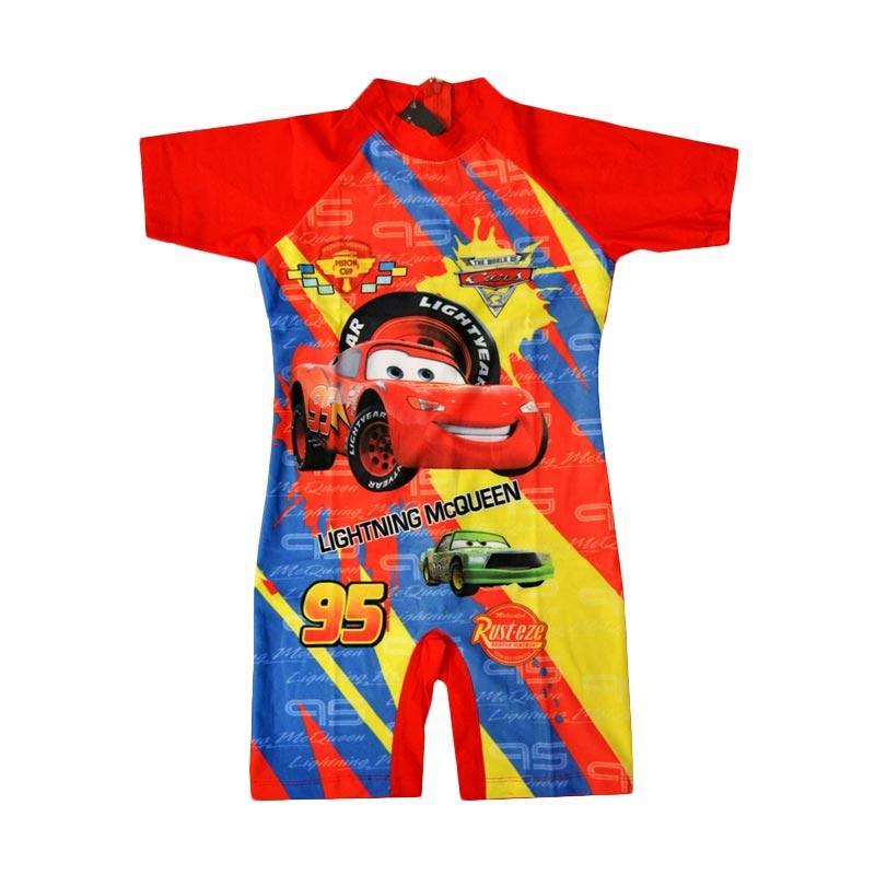 Nice Baby Motif Mc Queen Baju Renang Anak - Merah