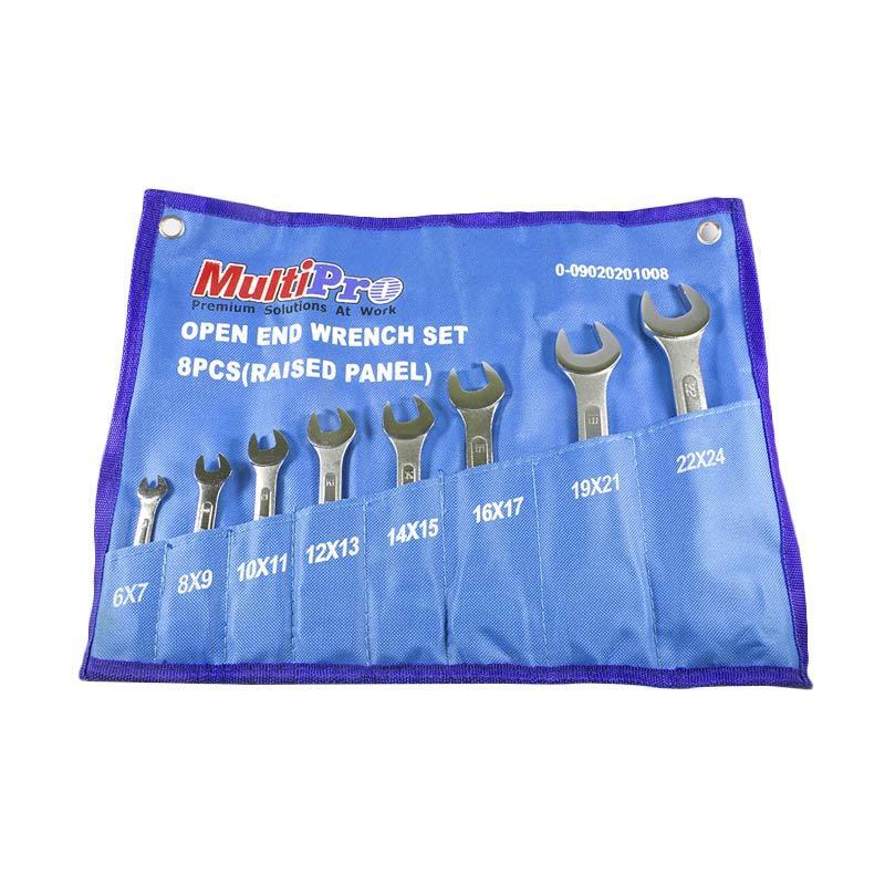 Multipro 09020201008 Open End Wrench Set Kunci Pas [8 Pcs]