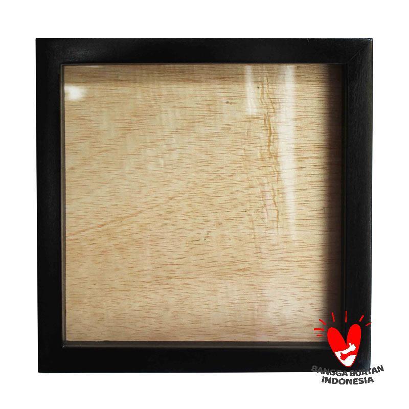 Ade Pigura Scrapbook Frame - Hitam [20 cm]